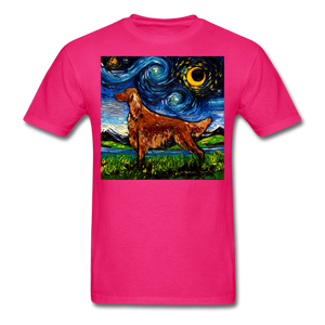 Irish Setter Night Unisex Classic T-Shirt - fuchsia