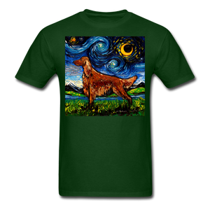 Irish Setter Night Unisex Classic T-Shirt - forest green