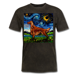 Irish Setter Night Unisex Classic T-Shirt - mineral black