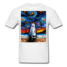 Load image into Gallery viewer, Jack Russell Terrier Night 2 Unisex Classic T-Shirt - white