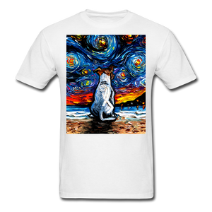 Jack Russell Terrier Night 2 Unisex Classic T-Shirt - white