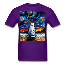Load image into Gallery viewer, Jack Russell Terrier Night 2 Unisex Classic T-Shirt - purple