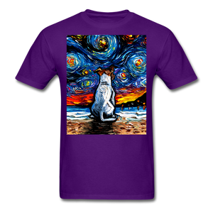 Jack Russell Terrier Night 2 Unisex Classic T-Shirt - purple