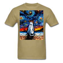 Load image into Gallery viewer, Jack Russell Terrier Night 2 Unisex Classic T-Shirt - khaki