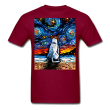 Load image into Gallery viewer, Jack Russell Terrier Night 2 Unisex Classic T-Shirt - burgundy