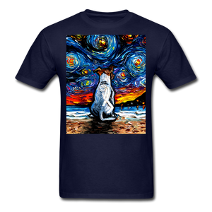 Jack Russell Terrier Night 2 Unisex Classic T-Shirt - navy