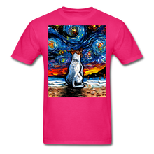 Load image into Gallery viewer, Jack Russell Terrier Night 2 Unisex Classic T-Shirt - fuchsia
