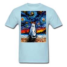 Load image into Gallery viewer, Jack Russell Terrier Night 2 Unisex Classic T-Shirt - powder blue