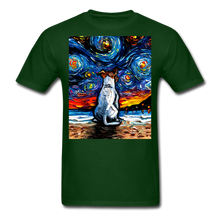 Load image into Gallery viewer, Jack Russell Terrier Night 2 Unisex Classic T-Shirt - forest green