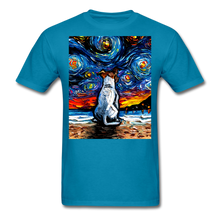 Load image into Gallery viewer, Jack Russell Terrier Night 2 Unisex Classic T-Shirt - turquoise