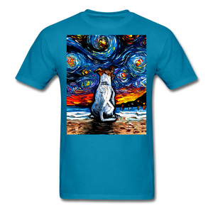 Jack Russell Terrier Night 2 Unisex Classic T-Shirt - turquoise