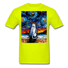 Load image into Gallery viewer, Jack Russell Terrier Night 2 Unisex Classic T-Shirt - safety green