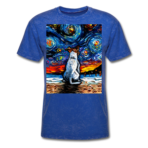 Jack Russell Terrier Night 2 Unisex Classic T-Shirt - mineral royal