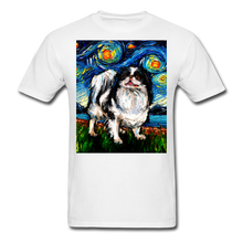 Load image into Gallery viewer, Japanese Chin Night Unisex Classic T-Shirt - white