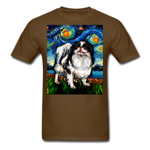 Load image into Gallery viewer, Japanese Chin Night Unisex Classic T-Shirt - brown