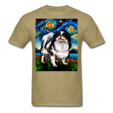 Load image into Gallery viewer, Japanese Chin Night Unisex Classic T-Shirt - khaki