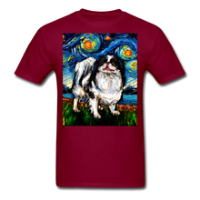 Load image into Gallery viewer, Japanese Chin Night Unisex Classic T-Shirt - burgundy