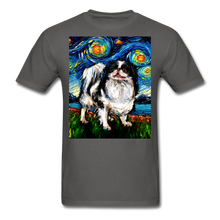 Load image into Gallery viewer, Japanese Chin Night Unisex Classic T-Shirt - charcoal