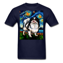 Load image into Gallery viewer, Japanese Chin Night Unisex Classic T-Shirt - navy