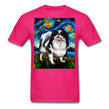 Load image into Gallery viewer, Japanese Chin Night Unisex Classic T-Shirt - fuchsia
