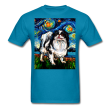 Load image into Gallery viewer, Japanese Chin Night Unisex Classic T-Shirt - turquoise