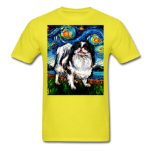 Load image into Gallery viewer, Japanese Chin Night Unisex Classic T-Shirt - yellow