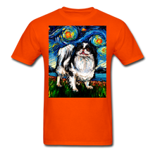 Load image into Gallery viewer, Japanese Chin Night Unisex Classic T-Shirt - orange