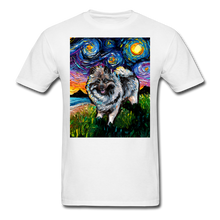Load image into Gallery viewer, Keeshond Night Unisex Classic T-Shirt - white