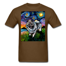 Load image into Gallery viewer, Keeshond Night Unisex Classic T-Shirt - brown