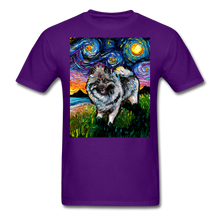 Load image into Gallery viewer, Keeshond Night Unisex Classic T-Shirt - purple