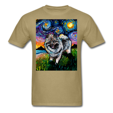 Load image into Gallery viewer, Keeshond Night Unisex Classic T-Shirt - khaki