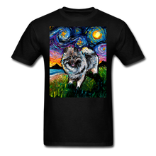 Load image into Gallery viewer, Keeshond Night Unisex Classic T-Shirt - black