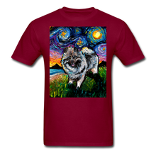 Load image into Gallery viewer, Keeshond Night Unisex Classic T-Shirt - burgundy