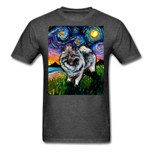 Load image into Gallery viewer, Keeshond Night Unisex Classic T-Shirt - heather black