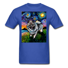 Load image into Gallery viewer, Keeshond Night Unisex Classic T-Shirt - royal blue