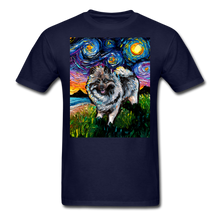 Load image into Gallery viewer, Keeshond Night Unisex Classic T-Shirt - navy