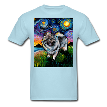 Load image into Gallery viewer, Keeshond Night Unisex Classic T-Shirt - powder blue