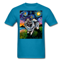 Load image into Gallery viewer, Keeshond Night Unisex Classic T-Shirt - turquoise
