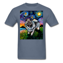Load image into Gallery viewer, Keeshond Night Unisex Classic T-Shirt - denim
