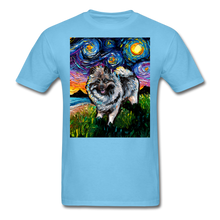 Load image into Gallery viewer, Keeshond Night Unisex Classic T-Shirt - aquatic blue