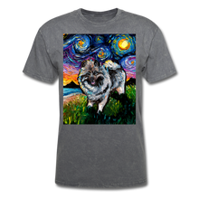 Load image into Gallery viewer, Keeshond Night Unisex Classic T-Shirt - mineral charcoal gray