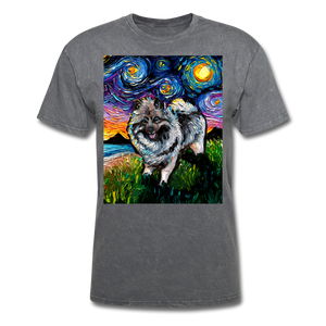 Keeshond Night Unisex Classic T-Shirt - mineral charcoal gray