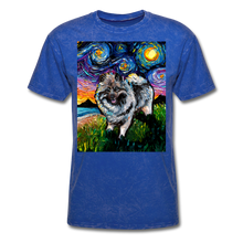 Load image into Gallery viewer, Keeshond Night Unisex Classic T-Shirt - mineral royal