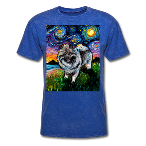 Keeshond Night Unisex Classic T-Shirt - mineral royal