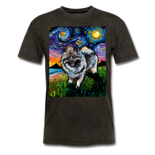 Load image into Gallery viewer, Keeshond Night Unisex Classic T-Shirt - mineral black