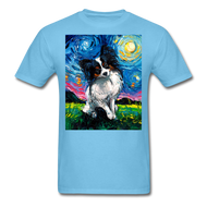 Papillon Night Unisex Classic T-Shirt - aquatic blue