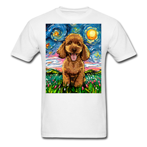 Apricot Poodle Night Unisex Classic T-Shirt - white