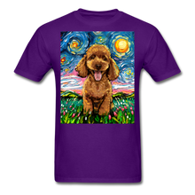 Load image into Gallery viewer, Apricot Poodle Night Unisex Classic T-Shirt - purple