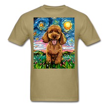 Load image into Gallery viewer, Apricot Poodle Night Unisex Classic T-Shirt - khaki