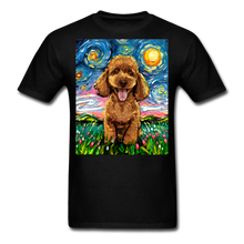 Load image into Gallery viewer, Apricot Poodle Night Unisex Classic T-Shirt - black